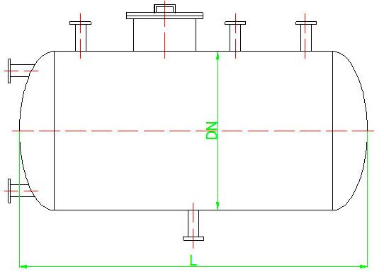 液氮低温卧式储罐设计结构简介