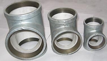 电厂耐磨衬塑复合管件
