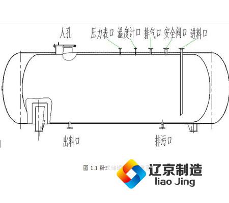 液氮低温卧式储罐设计结构
